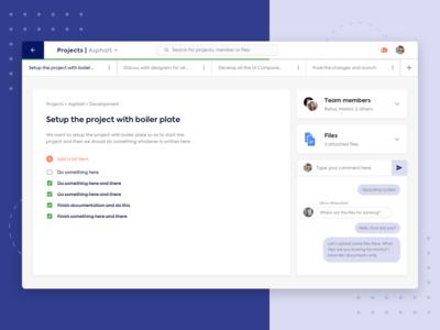 Projects Details UI | Sketch Freebie