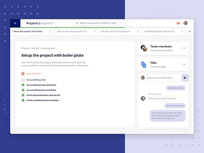 Projects Details UI   Sketch Freebie dashboard app task management task freebie concept design ux ui