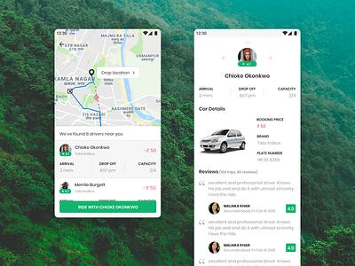 Go Buddy - Ride Sharing App driver ride sharing ride hailing app concept design ux ui