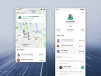 GoBuddy New Rider Notification car sharing ongoing ride taxi driver ride sharing app design ux ui