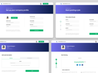 Setup Company Profile   InterviewPass forms web ux design ui