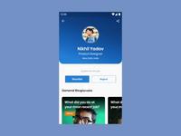 InterviewPass Profile studio invision profile design sketch interaction ux ui video interview