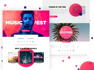 Music Fest | Landing Page Concpet