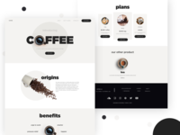 Coffee | Landing page concept