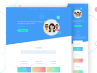 Landing page | selling courses
