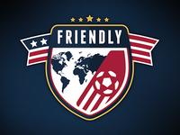 American Friendly Soccer Logo
