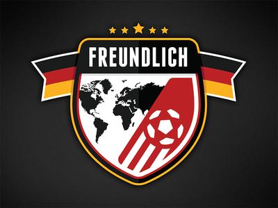 German Friendly Soccer Logo