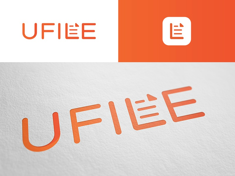UFILE icon logo document file ufile