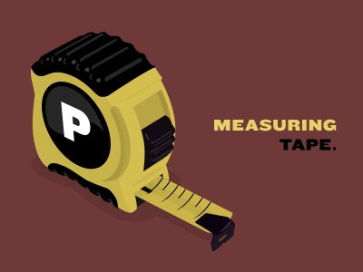 Measuring Tape measuring tape red vector knockout illustration