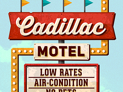 Vintage Motel Sign by Adam Aczkov - Dribbble
