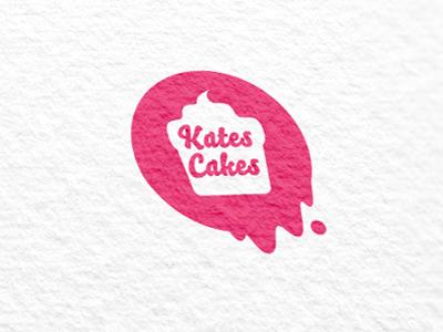 Kates Cakes logo cake kate pink lee woodbridge printed