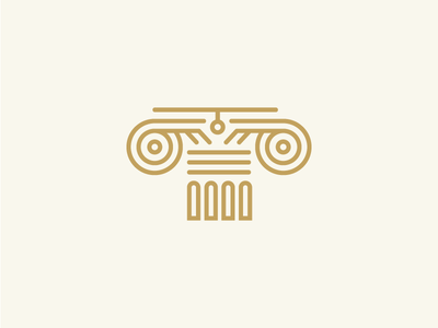 Icon_Greek_Column logo line gold columns column greek icon