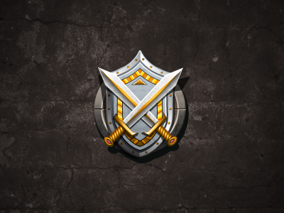 Swords And Shield ui icon illustrator photoshop social game texture