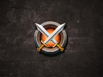 Swords illustrator photoshop icon ui sword fire social game