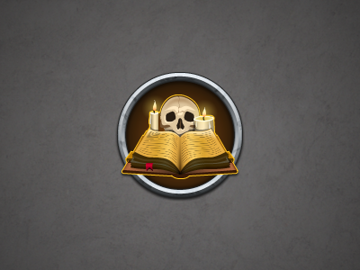 Part of the witchcraft icon kit (Skull) illustrator photoshop icon ui candle book skull magic witchcraft