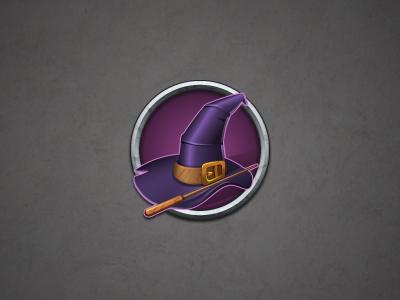 Part of the witchcraft icon kit (Hat) illustrator photoshop icon ui magic stick witchcraft