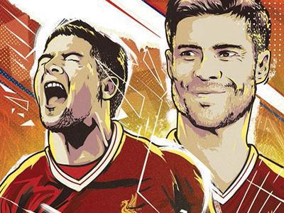 LFC Legends Programme cover artwork liverpoolfc gerrard illustration football soccer