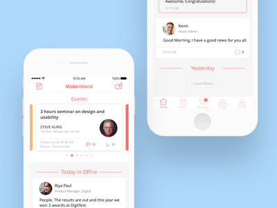 App for corporate activities and engagement corporate freelance mobile app