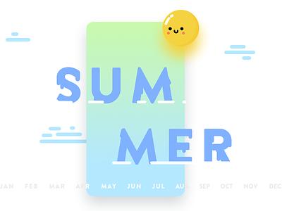 Summer card summer