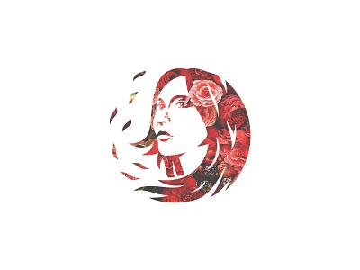 Flower Girl flowergirl designlogo logo face flower girl