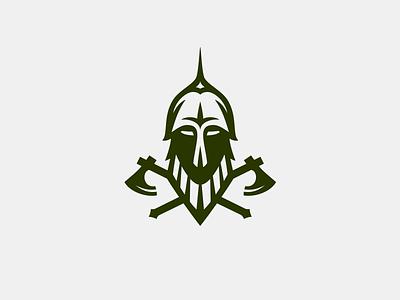 Russian Knight axe logo helmet russian knight