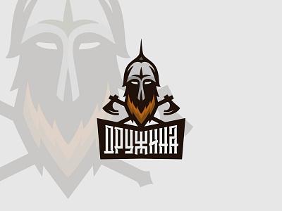 Russian knight / Дружина axe logo helmet russian knight