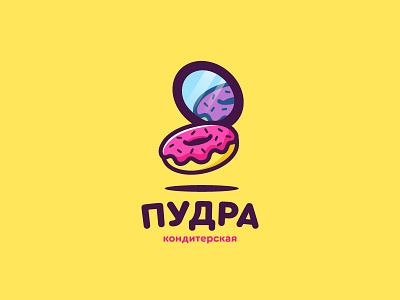 Powder / confectionery confectionery sweet donut mirror logo powder