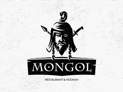 MONGOL face bar hookah warrior asia mongol logo restaurant