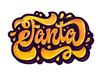 Fanta Lettering