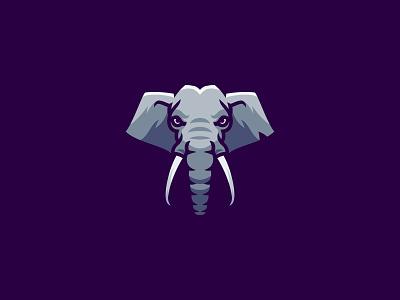 Elephant logo face animal art illistration animal logo animal elephant head elephant logo elephant