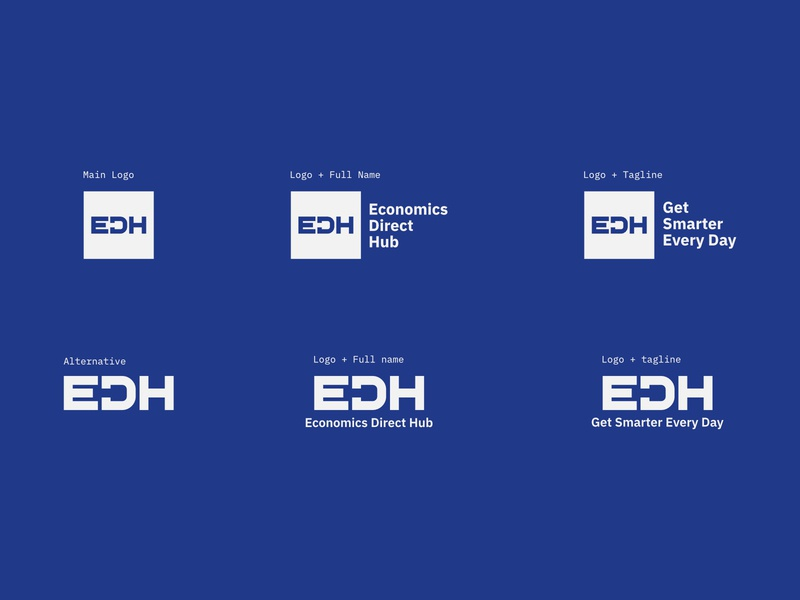 EDH Branding graphic design vector logotype typography affinitydesigner design customtype branding