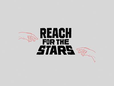 Reach for the stars logo lettering logotype branding customtype graphicdesign design illustration typography affinitydesigner