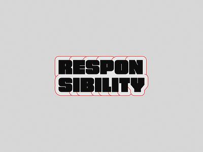 Responsiblity vector graphic design logo customtype logotype branding typography affinitydesigner