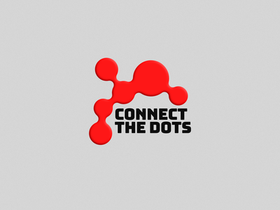 Connect the dots logo branding graphicdesign illustration logotype design typography affinitydesigner