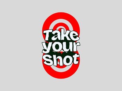 Take your shot customtype icon adobe illustrator graphicdesign typography logotype branding lettering design affinitydesigner
