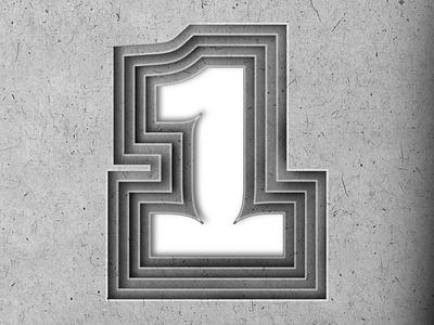 "36DAYSOFTYPE ""1"" affinitydesigner adobe illustrator adobe photoshop graphic design design lettering branding typography illustration customtype"