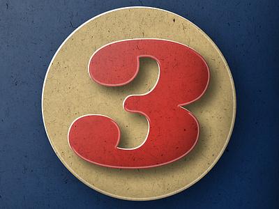 "36DAYSOFTYPE ""3"" photoshop 3d art design graphic design adobe illustrator icon branding typography lettering customtype illustration"