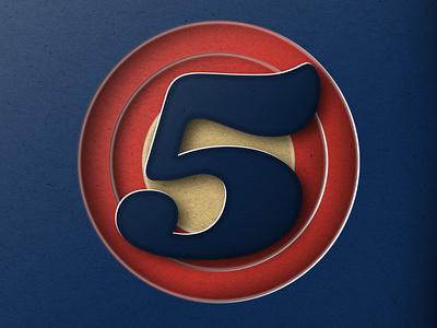 "36DAYSOFTYPE ""5"" photoshop icon graphicdesign design lettering adobe illustrator branding typography illustration customtype"