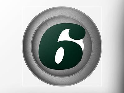 "36DAYSOFTYPE ""6"" photoshop 3d graphic design affinitydesigner design illustration customtype branding typography"