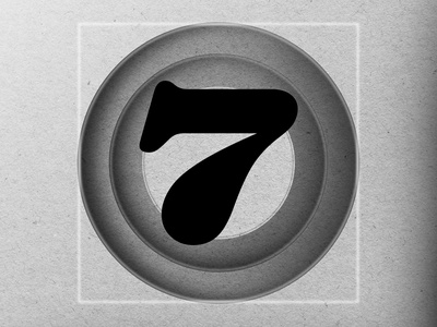 "36DAYSOFTYPE ""7"" illustration design customtype branding typography"