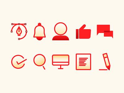 Icons set graphic design design icon illustration vector branding affinitydesigner