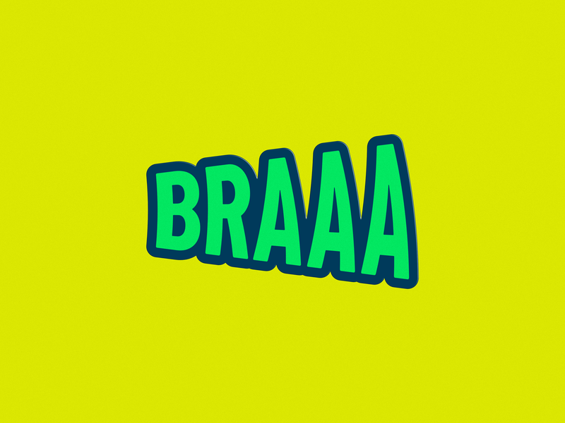 Braaa branding logo customtype logotype affinitydesigner typography design