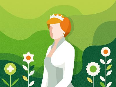 Time 100: Diana Frances Spencer illust vector design graphic illustration