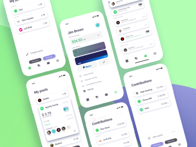 Money Pooling App Concept
