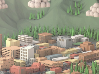'Colorado' (50 States of America - Low Poly Style.) render 3d low poly colorado 50 states of america