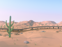 'Arizona' (50 States of America - Low Poly)