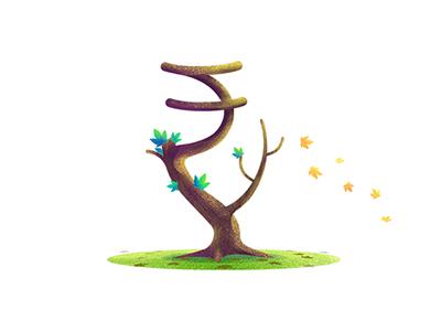 Rupee Tree Illustration