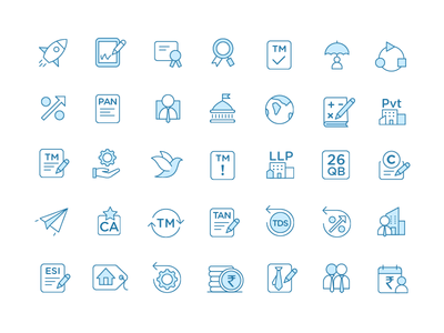 Tiny icons for financial services