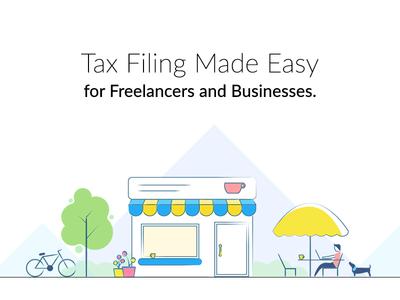 Freelancers and businesses hero illustration