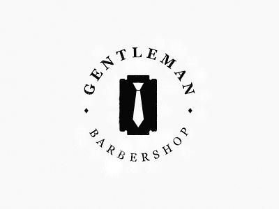 Gentleman / barber shop tie razor gentleman
